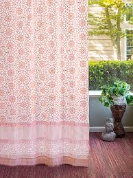 Orange And White Curtains Coral Orange White Curtains Geometric Curtains Moroccan Trellis