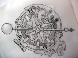 steunk compass outline by design on deviantart