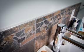 broken tile accent strip rustic bathroom philadelphia by bathroom