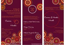 wedding card india wedding card designs indian menu designs