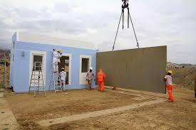 modular home builder concrete modular homes being produced in peru