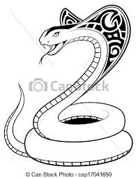 vector snake tribal snake cobra in the form of a