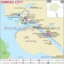 alaska major cities map juneau map the capital of alaska juneau city map