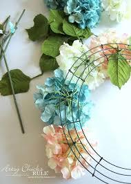 hydrangea wreath diy hydrangea wreath artsy rule