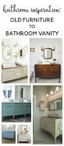 bathroom inspiration using a dresser as a vanity