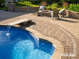 techo bloc fire pit outdoor lighting patio pool wall u0026 pillar