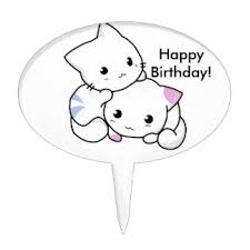 cute animal drawing cake toppers zazzle
