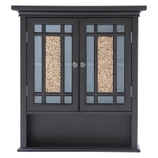 elegant home windsor espresso bathroom wall cabinet with 2 doors