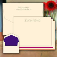 embossed note cards fancy embossed note cards personalized stationery eg5006