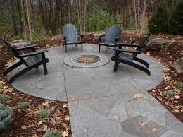 Concrete Fire Pit by Concrete Patio Firepit Stamped Concrete Patio And Firepit Views