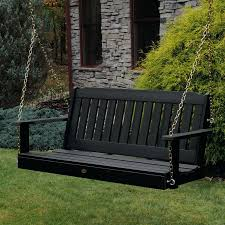 outdoor porch swing bench cushion hayneedle outdoor wood swing