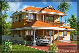 kerala style duplex house 1900 sq ft plan 107 acube