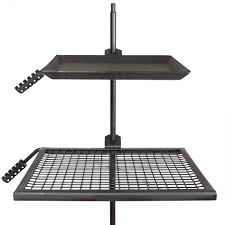 Cooking Over Fire Pit Grill - titan campfire adjustable swivel grill cooking grate griddle 40