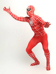 halloween spiderman costume halloween red lycra spandex unisex spiderman costume suit