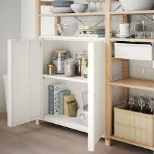 kitchen cupboard door storage ikea ivar cabinet with doors white ikea