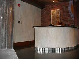 Concrete Reception Desk Studio Sandi Sample Photos Faux Concrete Walls And Reception Desk