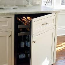 mini concealed hidden beverage fridge design ideas
