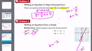 write an equation in slope intercept form choice image form