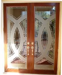 custom etched glass doors entry ways u2014 unique glass art