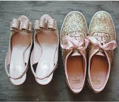 wedding shoes kate spade kate spade gold glitter shoes wedding shoe idea