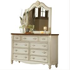 american woodcrafters chateau 9 drawer antique white dresser with