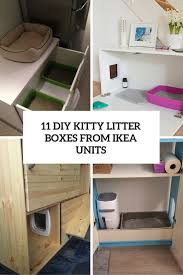 Simple Diy Desk by 11 Simple Diy Kitty Litter Boxes And Loos From Ikea Units