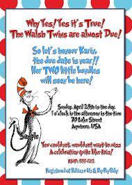 dr seuss baby shower invitations cat in the hat baby shower invitations gangcraft net