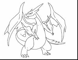 spectacular mega charizard pokemon coloring pages with pokemon