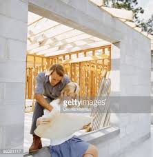 new home construction plans looking at new home construction plans stock photo getty
