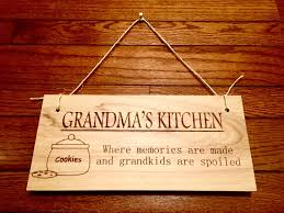 laser engraved grandma u0027s kitchen wooden sign home decor wooden