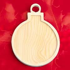 unfinished wood christmas ornament with inlay wood cutouts