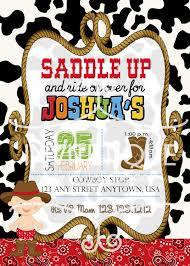 cowboy invitation western birthday boy birthday