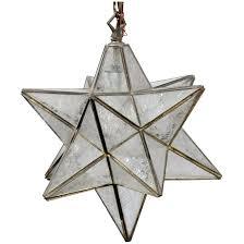 onyx pendant lighting large glass star pendant light antique brass fixture moravian