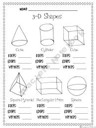 3 d shapes facts worksheet teaching shapes patterns and graphs