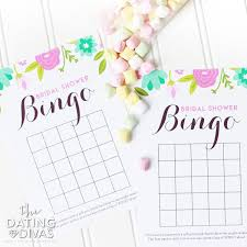 bridal shower gift bingo bridal shower printables pack the dating divas