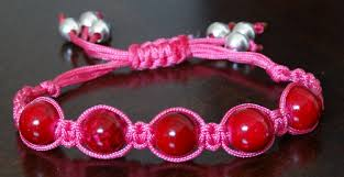cord bracelet with beads images How to make adjustable square knot bracelet with beads jpg