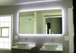 backlit bathroom vanity mirror backlit bathroom mirror sasha alexandra led lighted bathroom mirror