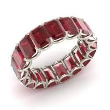 ruby eternity ring ewan ring with emerald cut ruby 11 9 carat rectangle ruby