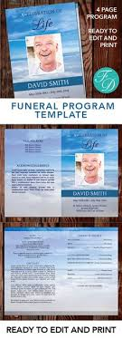 print funeral programs sky printable funeral program ready to edit print simply