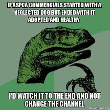 Aspca Meme - if aspca commercials started with a neglected dog but ended with
