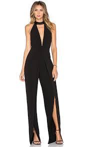 high neck jumpsuit heritage high neck jumpsuit in black revolve
