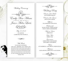 cheap ceremony programs black and white wedding programs cheap programs for wedding