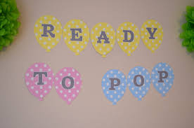 ready to pop baby shower balloon banner choose your colors
