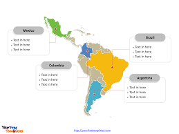 Map Of Latin America With Capitals by Free Latin America Editable Map Free Powerpoint Templates