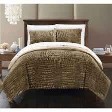 Faux Fur Duvet Cover Queen Chic Home Caimani Gold Faux Fur Queen 3 Piece Comforter Set Free
