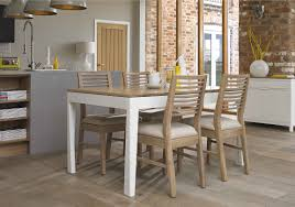 dixon small extending dining table with 4 oak chairs furniture