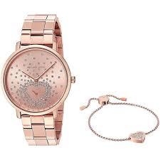 rose tone stainless steel bracelet images Michael kors women 39 s mk3621 39 jaryn 39 heart bracelet gift set jpg