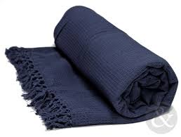 soft 100 cotton honey comb throw with tasselled edge sofa cover