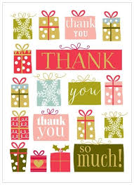 christmas thank you cards pack of 8 christmas presents christmas thank you cards karenza