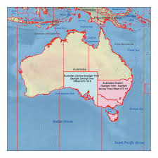 Time Zone Converter Map by Australia Time